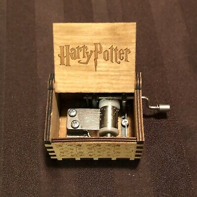 Harry Potter Wooden Music Box Engraved Crafts Christmas Gift.