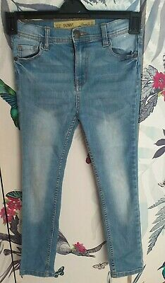 Denim & Co Boys Skinny Jeans Light Blue Age 8-9 Used Good Condition
