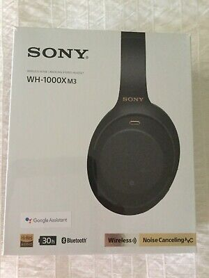SONY WH-1000X M3 Wireless Noise Cancelling Black Stereo Headphones - NEW