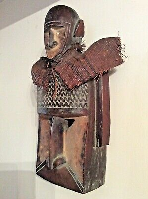Authentic African Tribal Mask-Two person- Dogon - Mali Early 20th Century