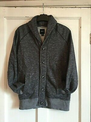 Boys Black Fleck Long Sleeved Cardigan from Gap Kids Size XXL (14-16 YRS)