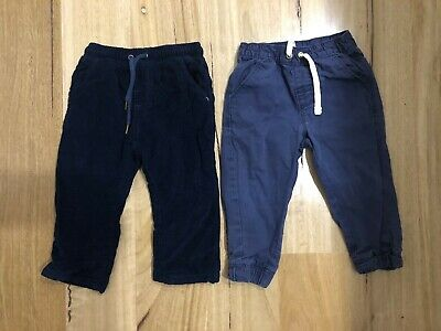 Purebaby & Sprout Boys Navy Blue Pants Size 1