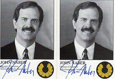 JOHN NABER AUTOGRAPH, Ex OLYMPIAN SWIMMER & MEDALIST