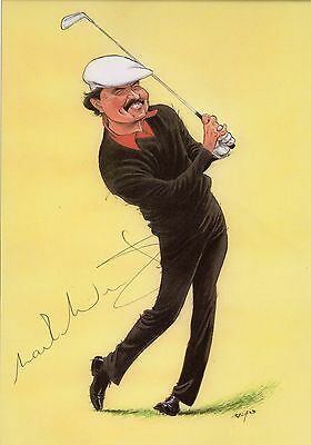 GOLF MARK McNULTY CARICATURE AUTOGRAPH