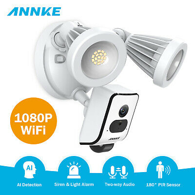 ANNKE HD 1080P Wireless Floodlight Security Camera PIR Motion Two-Way Talk Video