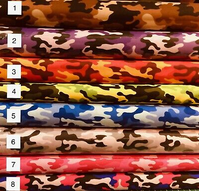 Camouflage Camo Fabric  8 colors by the Yard, Half Yard, FQ or Scrap