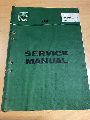 Volvo Service Manual Instruments, Heater System Amazon P120 Instrumente Heizsyst