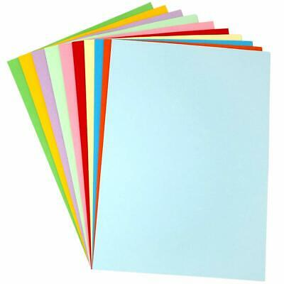 A5 WHITE PRINTER & COLOURED PAPER CARD BRIGHT PASTEL COLOURS 80gsm 160gsm