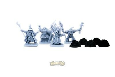 Resin reproduction - Heroquest - Wizards of Morcar with support