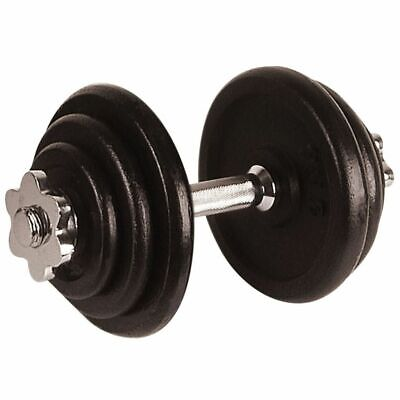 Avento Dumbbell 10 kg Black Free Weights Biceps Gym Workout Fitness 41HL~