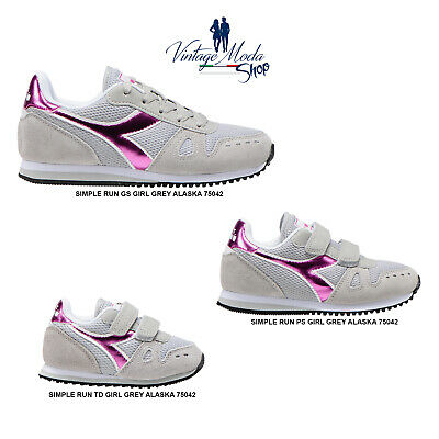 DIADORA SIMPLE RUN Td Girl Scarpe Sneakers Bambina Strappo