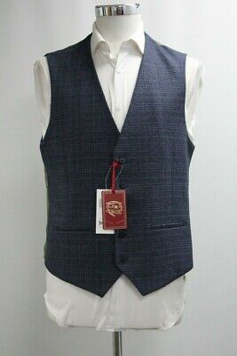 Men's Joe Browns Waistcoat in Checked Dark Navy Blue (40R)...Ref: 7236