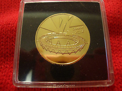 Completer Medallion 2012 London Olympics Coin 24K Gold Plated.