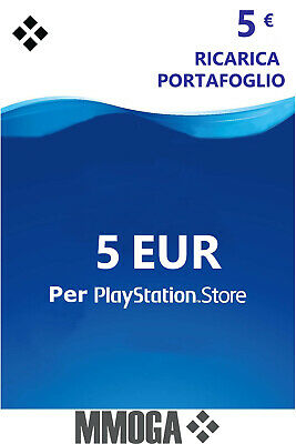 5€ Eur PlayStation codice prepagato - 5 EURO PSN Network PS4 PS3 PS Vita - IT