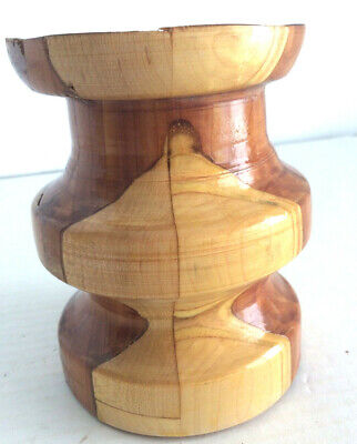 """5"""" Tall Wooden Pillar for Candle"""