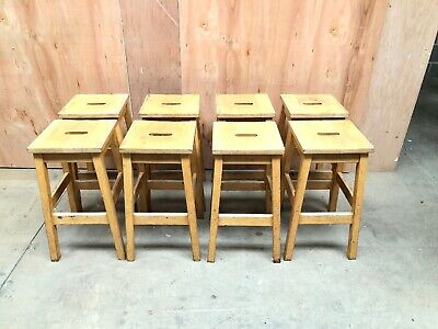 Old School Wooden Stools (8 Available)