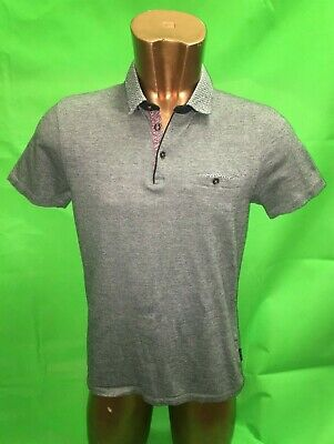 Ted Baker Blue Polo Style Shirt Size 4 * Excellent Condition *