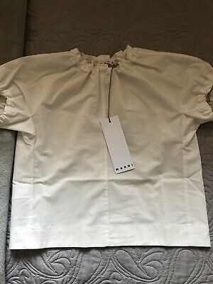 MARNI Girls Candy Striped Blouse Top Size 8Y Made in Italy Bonpoint Like BNWT