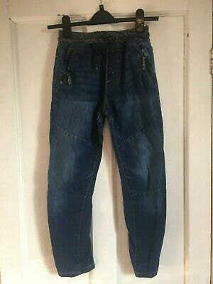 Boys Blue Twisted Leg Drawstring Waist Jeans from Next Age 9 years