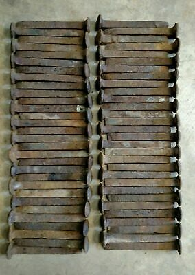 "Lot of 60 Railroad Spikes MOSTLY HIGH CARBON Blacksmith  6 1/2"" Rust, FREE SHIP"