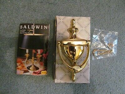 NEW Vintage BALDWIN Polished Forged Solid Brass Door Knocker 0110-030  USA Made