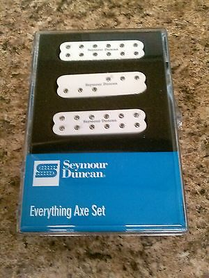 New Seymour Duncan Everything Axe Stratocaster Pickup Set White