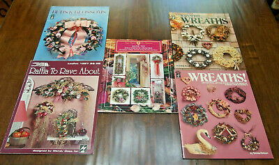 Lot/5 Different VTG Booklets w/Flowers/Wreaths/Garlands/Raffia Projects, PREOWN