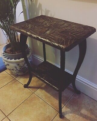 1905 LIBERTY co London JAPANESE CARVED SIDE TABLE PLANT STAND Japanism Oriental