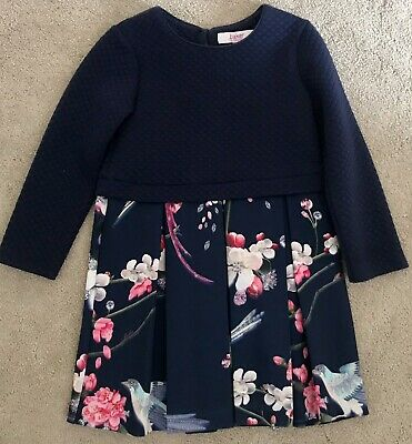 Girls Ted Baker Navy Dress Age 5 - 6 Years
