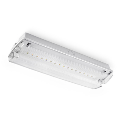 3 Hour Emergency 3w LED Bulkhead Maintained IP65 School Office Hall Pub lighting