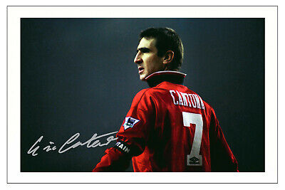 Eric Cantona Manchester United Signed Photo Print Autograph Soccer