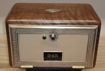 Post Office Box Door Bank/Gun Safe-Size 3 Grecian-Figured Walnut