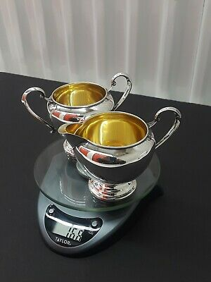 Antique / Not Weighted , Sterling Silver / Cream & Sugar Set. No/ Reserve