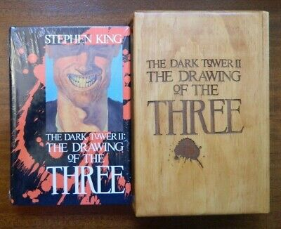 Dark Tower Drawing of the Three by Stephen King 1st edition in wood Dolso case