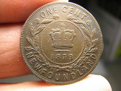 Canada Newfoundland large 1 Cent 1873 coin Victoria