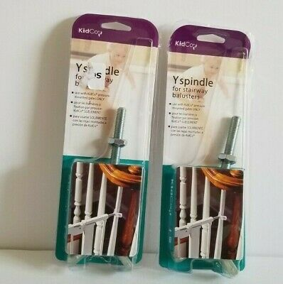 LOT of 2 KidCo Y Spindle for Stairway Balusters and Pressure Mount Gates NOS