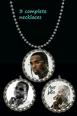 3  Pop smoke necklaces necklace photo picture lot  rapper meet the woo keepsake
