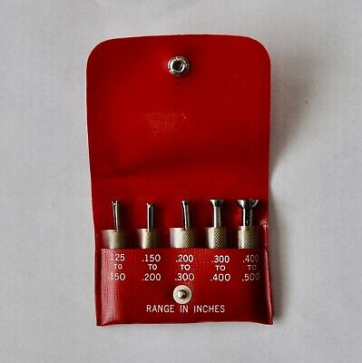 """Vintage Starrett  No. S830F Small Hole Gages for Machinist .125"""" to .500"""""""