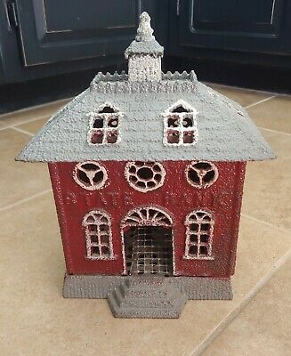 Vintage Cast Iron State Bank Coin Bank