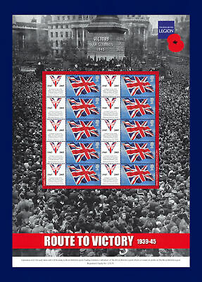 2005 BC-055 10x1st Route to Victory Smiler Sheet Unmounted Mint MNH bbvk