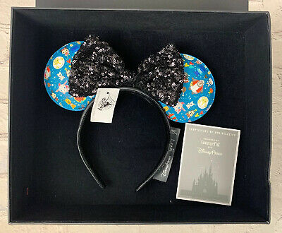 New Disney Parks Minis Designer Collection Loungefly Minnie Mouse Ears Headband
