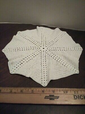 Lot Of 6 Vintage Crochet Doilie Doily Set White Beige Tan Various Sizes