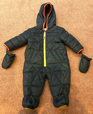 Boys Baker by Ted Baker Green Snowsuit Size 3-6 Months