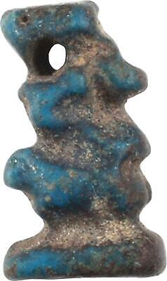 Ancient Egyptian Faience Amulet Of Taweret, 664-332 Bc