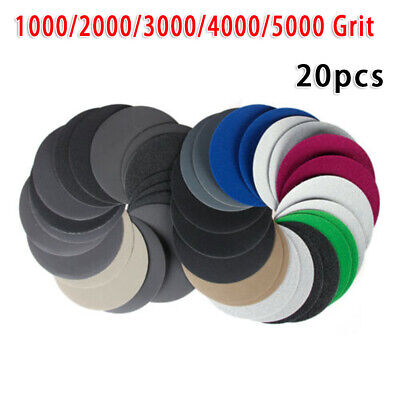 Silicon Carbide Wet Or Dry 1000-5000 Grit Sandpaper Pads Sanding Disc 6'' 150mm