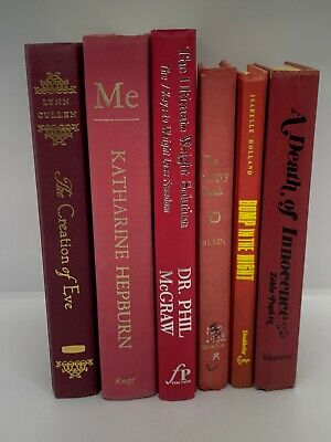 Lot 6 RED / Shades of RED Modern Old Vintage Antique Rare Hardcover Random