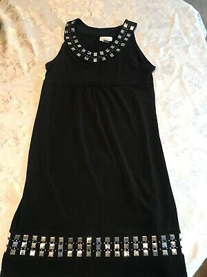 GIRLS DRESS SIZE 12 Limited Too BLACK DRESS With silver accents EUC beautiful
