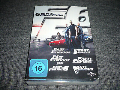 DVD - The Fast and The Furious  1-6  (1+2+3+4+5+6) Box