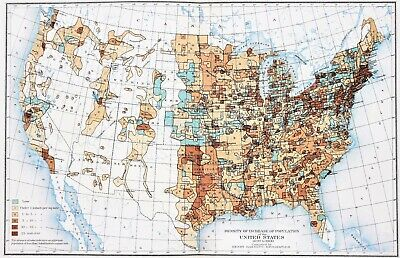 1900 United States Map Population Density Indian Territory Texas Georgia Florida