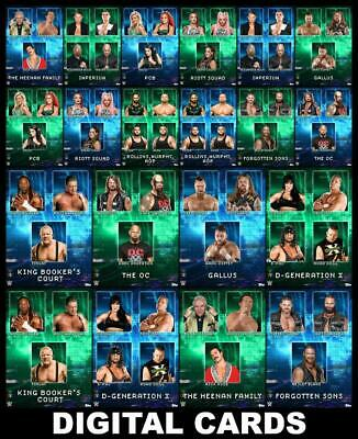 Topps SLAM WWE Factions & Stables Drop 2 [20 CARD BASE/MOTION SET] Riott Squad++